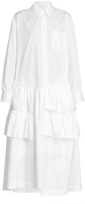 Simone Rocha Popeline Tiered Shirtdress