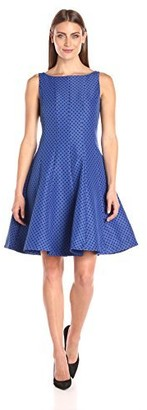 Julian Taylor Women's Fit and Flare Polka Dot Dress
