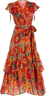 Banjanan Mercy Printed Cotton Wrap Dress
