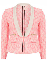 Dorothy Perkins Pink and cream neon blazer