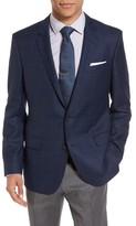BOSS Men's Hutch Trim Fit Windowpane Wool Sport Coat