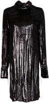 Nina Ricci metallic shift dress - women - Silk/Polyamide - 38