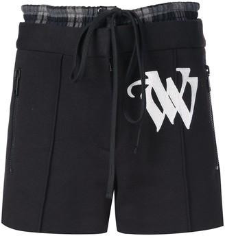 Vera Wang Embroidered Drawstring Shorts