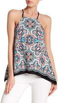 Laundry by Shelli Segal Printed Crepe Halter Top