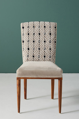 Anthropologie Elza Diamond Dining Chair By in Grey Size ALL