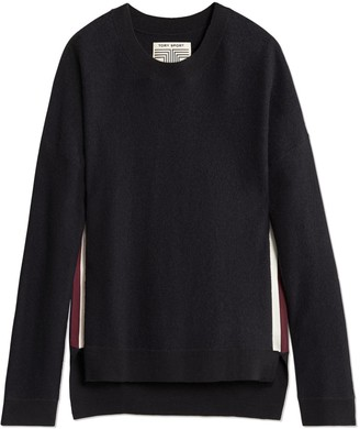 Tory Burch Double-Stripe Lightweight Droptail Pullover