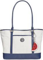 Giani Bernini Canvas Fruit Large Tote, Only at Macy's