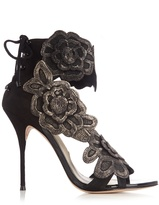 Sophia Webster Winona floral-appliqué suede sandals