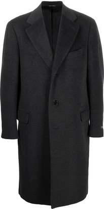 Canali Single-Breasted Wool Coat