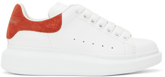 Alexander McQueen White and Red Snake Oversized Sneakers
