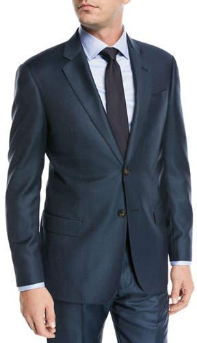 Emporio Armani Birdseye Two-Piece Wool Suit