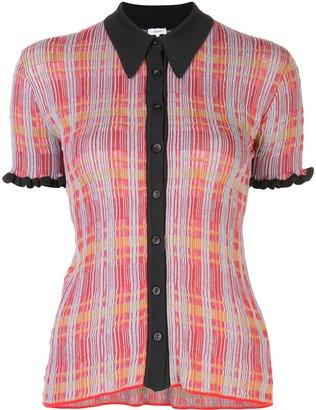M Missoni slim fit plaid shirt