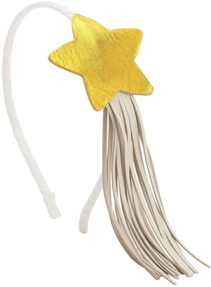 Illy Trilly Leather Headband W/ Star & Fringes