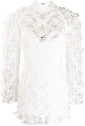 David Koma butterfly lace dress