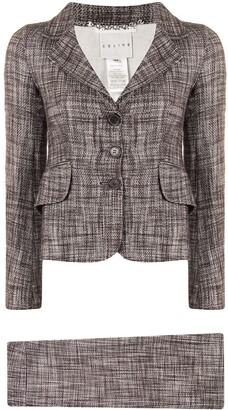Céline Pre-Owned Pre-Owned Notched Lapels Skirt Suit