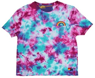 Aviator Nation Rainbow Embroidered Tie-Dye T-Shirt