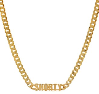 Established SHORTY Word Italian Necklace - Yellow Gold