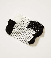 LOFT Dot and Stripe No Show Sock Set