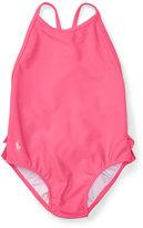 Ralph Lauren Ruffled Cross-Back Swimsuit