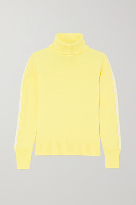 Cordova Intarsia Merino Wool Turtleneck Sweater - Yellow