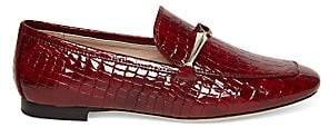 Kate Spade Women's Lana Croc-Embossed Leather Loafers
