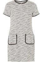 Dorothy Perkins Womens Ivory Jacquard Shift Dress- White