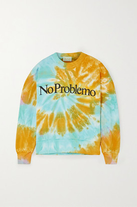 Aries Printed Tie-dyed Cotton-jersey Sweatshirt - Orange