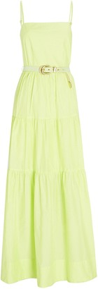 Nicholas Kerala Tiered Poplin Maxi Dress