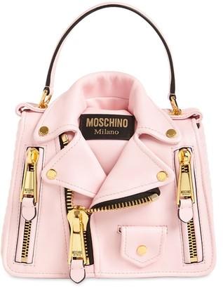 Moschino BIKER LEATHER TOP HANDLE BAG