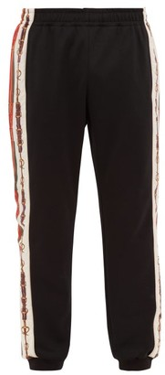 Gucci Horsebit Chain-print Track Pants - Mens - Black