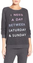 Junk Food Clothing Women's 'Saturday & Sunday' Hacci Sweatshirt