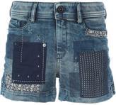 Diesel patchwork denim shorts