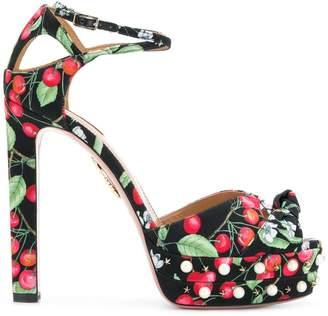 Aquazzura Harlow Pearls sandals