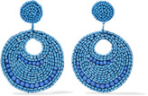 Kenneth Jay Lane Silver-tone bead earrings