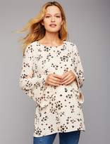 A Pea in the Pod Moon + Sky Keyhole Detail Maternity Blouse