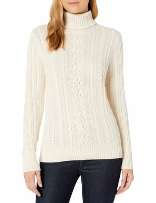 Amazon Essentials Women's Fisherman Cable Turtleneck Sweater