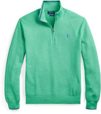 Ralph Lauren Cotton Quarter-Zip Sweater