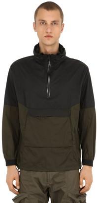 Nylon Anorak W/ Concealed Hood