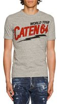 DSQUARED2 World Tour Caten 64 Graphic T-Shirt, Gray