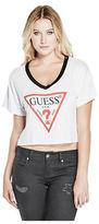 GUESS Women's Marco Logo Crop Tee