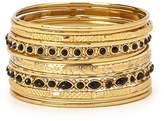 Forever 21 Faux Stone Etched Bangle Set