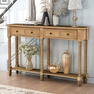 Rosalind Wheeler Sidonie 51.57'' Solid Wood Console Table