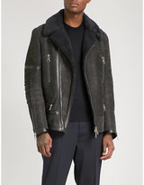 Neil Barrett Shearling-lined suede coat