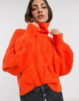 Y.A.S roll neck chunky cable knit jumper