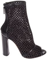 Casadei Peep Toe Ankle Boots