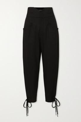 Isabel Marant Ubaia Cotton-blend Tapered Pants - Black
