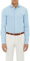 Barba Men's Chambray Shirt-BLUE