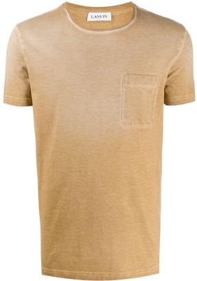 Lanvin washed patch-pocket T-shirt
