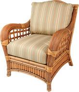 One Kings Lane Belize Armchair, Green/Tan/Beige