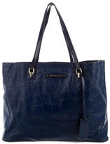 Diane von Furstenberg Embossed Leather Tote
